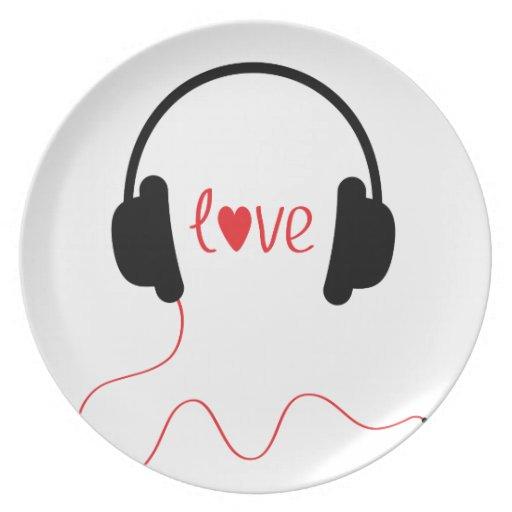 Música del amor platos para fiestas