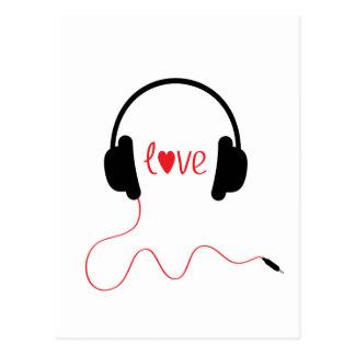 Música del amor postales