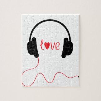 Música del amor rompecabeza con fotos