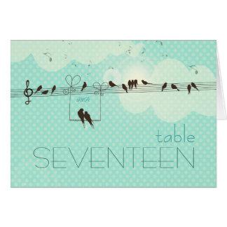 Música del amor - tarjeta del número de la tabla