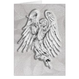 Música del ángel tarjeta de felicitación