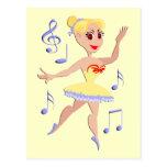 Música del ballet de la bailarina postal