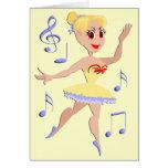 Música del ballet de la bailarina tarjeton