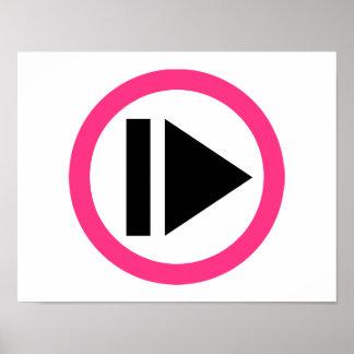 Música del botón de reproducción póster