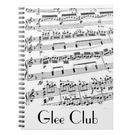 Música del club de júbilo libretas espirales