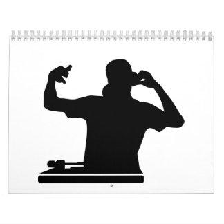 Música del club de las placas giratorias de DJ Calendario De Pared
