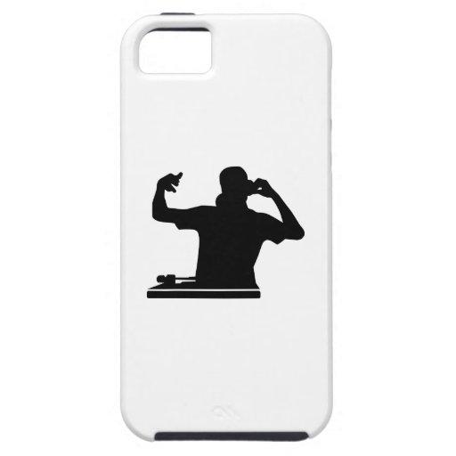 Música del club de las placas giratorias de DJ iPhone 5 Case-Mate Cárcasa