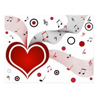 Música del corazón I - postal