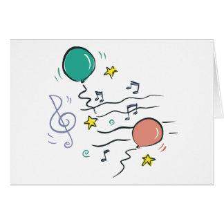 Música del fiesta tarjeta de felicitación