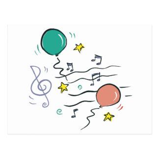 Música del fiesta tarjetas postales