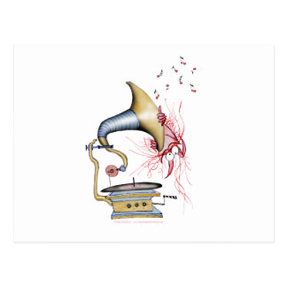 música del gato del jazz, fernandes tony tarjeta postal