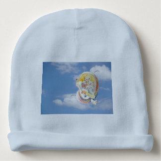Música del gato en nubes gorrito para bebe