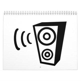 Música del golpe del altavoz calendarios de pared