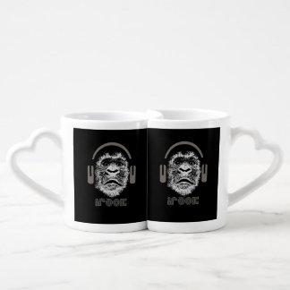 música del gorila del irock set de tazas de café