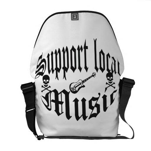 música del local de la ayuda bolsas messenger