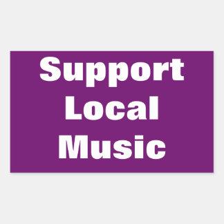 Música del Local de la ayuda Pegatina Rectangular
