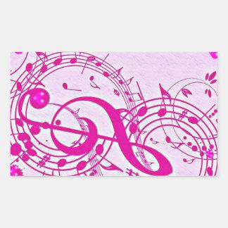 Música del love_ pegatina rectangular
