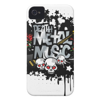 Música del metal de la muerte iPhone 4 Case-Mate fundas