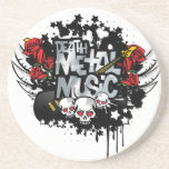 Música del metal de la muerte posavasos para bebidas