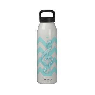 Música del modelo del galón del trullo de la nota  botella de agua reutilizable