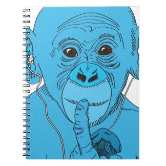 Música del mono libros de apuntes