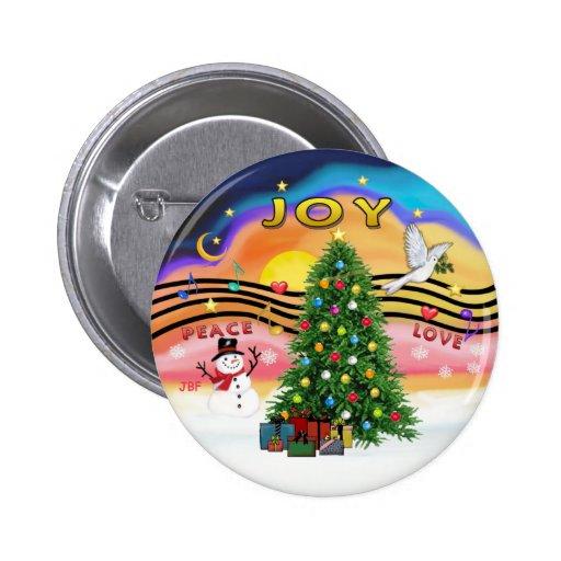 Música del navidad pin redondo 5 cm