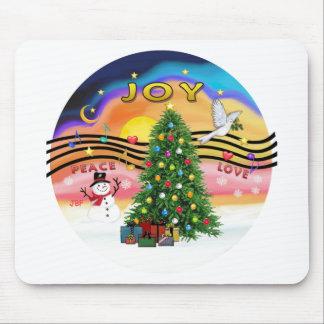 Música del navidad alfombrillas de ratón