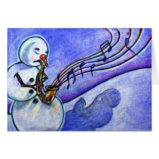 Música del navidad tarjeton