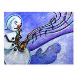 Música del navidad tarjeta postal