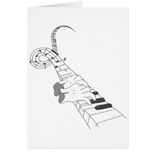 Música del piano tarjeta de felicitación