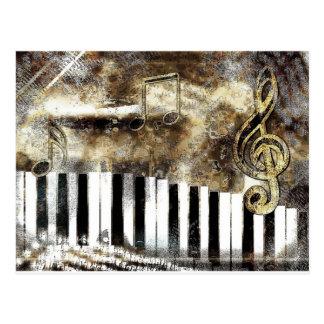 Música del piano postales