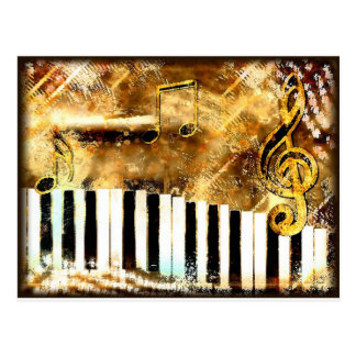 Música del piano tarjetas postales