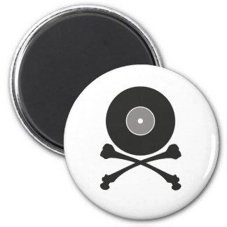Música del pirata imanes para frigoríficos