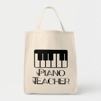 Música del teclado del profesor de piano