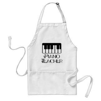 Música del teclado del profesor de piano delantales