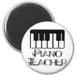 Música del teclado del profesor de piano imán de frigorífico
