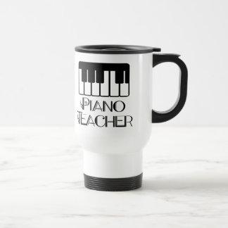 Música del teclado del profesor de piano tazas