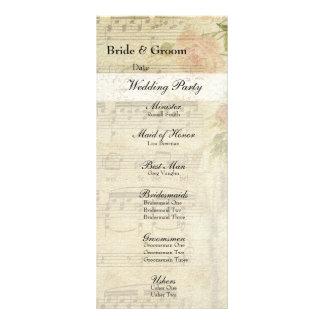 Música del Victorian y programa color de rosa del Tarjetas Publicitarias Personalizadas