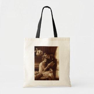Música del vintage, amor y amantes románticos del bolsa tela barata