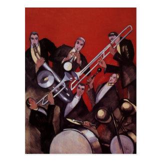 Música del vintage atasco musical de la banda de tarjeta postal