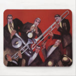 Música del vintage, atasco musical de la banda de  tapete de ratón