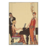 Música del vintage, cantante del músico del pianis poster