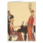 Música del vintage, cantante del músico del tarjeta de felicitación