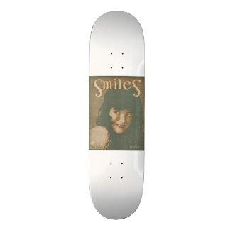 Música del vintage de las sonrisas patines