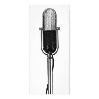 Música del vintage, micrófono retro viejo de plantillas de lonas