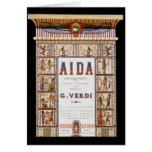 Música del vintage, ópera de Aida del egipcio de V Tarjetón