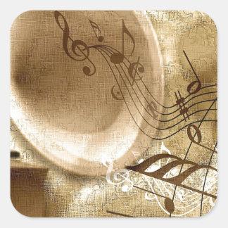 Música del vintage colcomania cuadrada