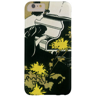 Música del vintage, Srta. Traumerei Playing Piano, Funda Para iPhone 6 Plus Barely There