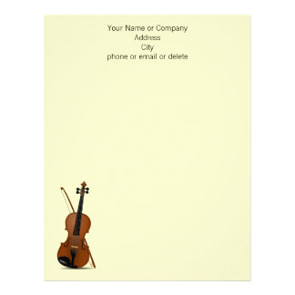 Música del violín del instrumento de música plantillas de membrete