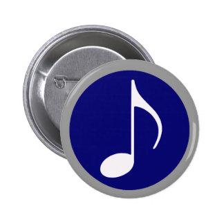 música dentro pin redondo de 2 pulgadas